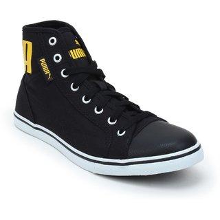 Puma Men Black Yellow Streetballer Mid IDP Casual Shoes 36615305