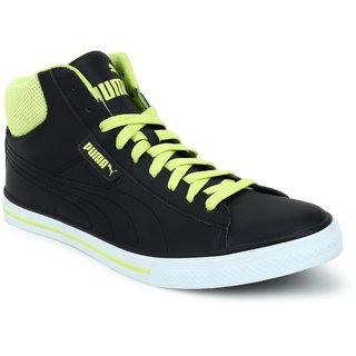 Puma Men Black Yellow Salz Mid NU IDP Casual Shoes 36621501