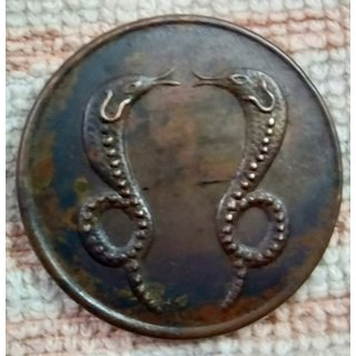 WATCH STOPPER HALF ANNA E.I.Co.TWO SNAKES MAGNETIC  EFFECT COIN