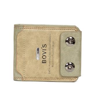 Bovis Beige PU Leather Single fold Wallet For Men's