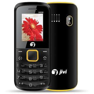 JIVI X606 DUAL SIM MOBILE PHONE WITH AUTO CALL RECORDER , BLACK+BLUE