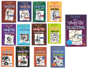 SET OF 13 BOOKS OF DIARY OF WIMPY KID BY JEFF KINNEY