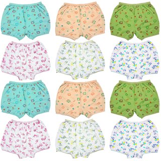 Yorker Cotton Printed Bloomers For Kids/Boys  Girls Pack Of 12