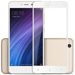 5 Ace Full Glue Full Coverage Edge-to-Edge  Screen Covered Tempered Glass for redmi 3s/4a With installation kit (white)