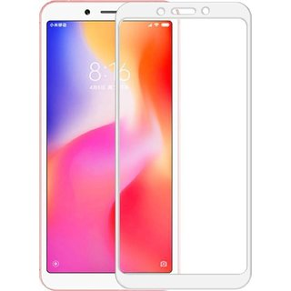 5 Ace Full Glue Full Coverage Edge-to-Edge  Screen Covered Tempered Glass for redmi 6a With installation kit (white)