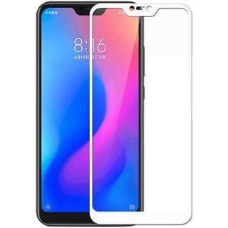 5 Ace Full Glue Full Coverage Edge-to-Edge  Screen Covered Tempered Glass for redmi 6pro With installation kit (white)