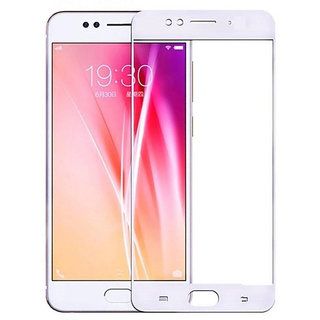 5 Ace Full Glue Full Coverage Edge-to-Edge  Screen Covered Tempered Glass for OPPO F3 With installation kit (white)