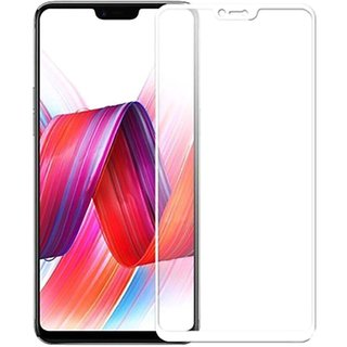 5 Ace Full Glue Full Coverage Edge-to-Edge  Screen Covered Tempered Glass for OPPO F7 With installation kit (white)