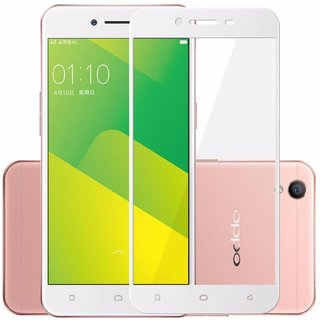 5 Ace Full Glue Full Coverage Edge-to-Edge  Screen Covered Tempered Glass for OPPO A37 With installation kit (white)