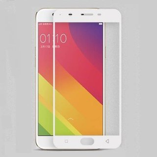 5 Ace Full Glue Full Coverage Edge-to-Edge  Screen Covered Tempered Glass for OPPO F1S With installation kit (white)