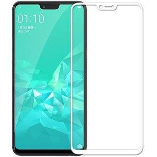 5 Ace Full Glue Full Coverage Edge-to-Edge  Screen Covered Tempered Glass for OPPO A3S With installation kit (white)