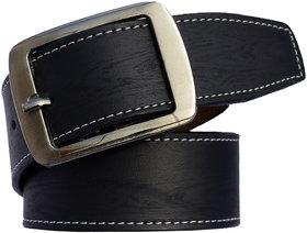 Men's Black Leatherite Formal Pin Point Buckle belt