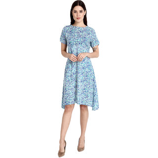 Jollify Women's & Girls Rayon  Printed Branded  Dress