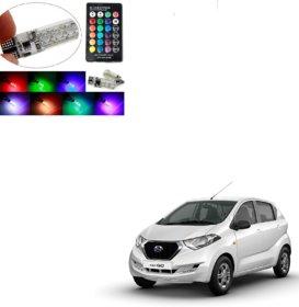 Auto Addict Car 2PC T10 LED RGB Parking Indicator Socket Light Bulb For Datsun Redi Go