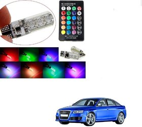 Auto Addict Car 2PC T10 LED RGB Parking Indicator Socket Light Bulb For Audi RS 6