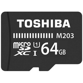 Toshiba Class 10 M203 64 GB 100 MB/S MicroSD Card