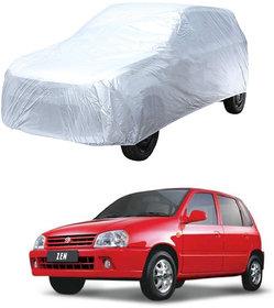 AutoRetail Maruti Suzuki Zen Silver Matty Car Body Cover For 1998 Model (Triple Stiched, without Mirror Pocket)