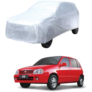 AutoRetail Maruti Suzuki Zen Silver Matty Car Body Cover For 2003 Model (Triple Stiched, without Mirror Pocket)