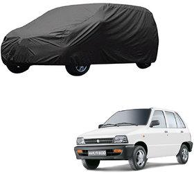 AutoRetail Maruti Suzuki 800 Grey Car Body Cover for 2000 Model (Triple Stiched, without Mirror Pocket)