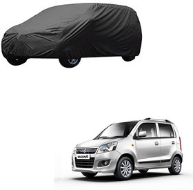 AutoRetail Maruti Suzuki WagonR Grey Car Body Cover for 2018 Model (Triple Stiched, without Mirror Pocket)