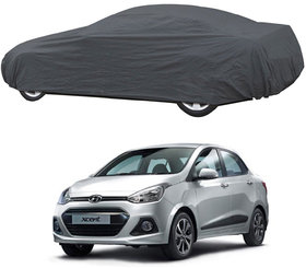 AutoRetail Hyundai XCENT Grey Car Body Cover for 2019 Model (Triple Stiched, without Mirror Pocket)