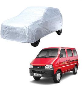 AutoRetail Maruti Suzuki EECO Silver Matty Car Body Cover for 2014 Model (Triple Stiched, without Mirror Pocket)