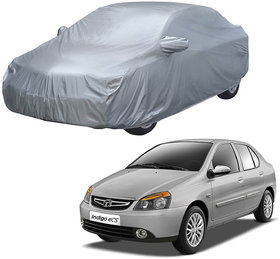 AutoRetail Tata INDIGO CS Silver Matty Car Body Cover for 2009 Model (Mirror Pocket, Triple Stiched)