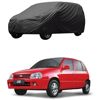 AutoRetail Maruti Suzuki Zen Grey Car Body Cover For 2003 Model (Triple Stiched, without Mirror Pocket)