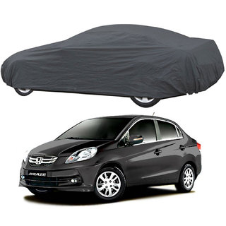 AutoRetail Honda Amaze Grey Car Body Cover for 2016 Model (Triple Stiched, without Mirror Pocket)