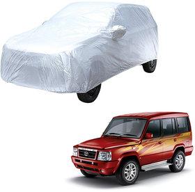 AutoRetail Tata SUMO Silver Matty Car Body Cover for 2019 Model (Mirror Pocket, Triple Stiched)