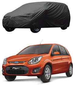 AutoRetail Ford Figo Grey Car Body Cover For 2017 Model (Triple Stiched, without Mirror Pocket)
