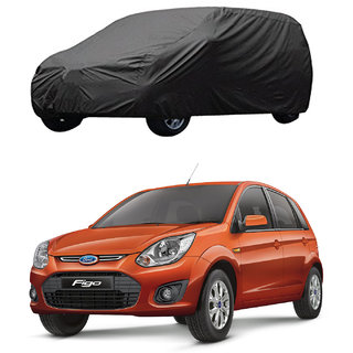 AutoRetail Ford Figo Grey Car Body Cover For 2014 Model (Triple Stiched, without Mirror Pocket)