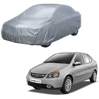 AutoRetail Tata INDIGO CS Silver Matty Car Body Cover for 2013 Model (Triple Stiched, without Mirror Pocket)