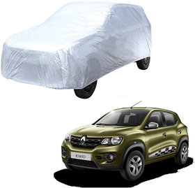 AutoRetail Renault KWID Silver Matty Car Body Cover for 2019 Model (Triple Stiched, without Mirror Pocket)