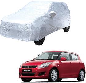AutoRetail Maruti Suzuki Swift Silver Matty Car Body Cover For 2005 Model (Mirror Pocket, Triple Stiched)