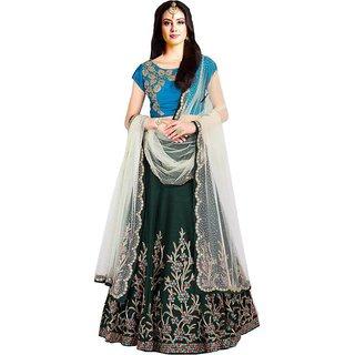 New Latest Bollywood Designer Muskan Green Embroidered Lehenga Choli