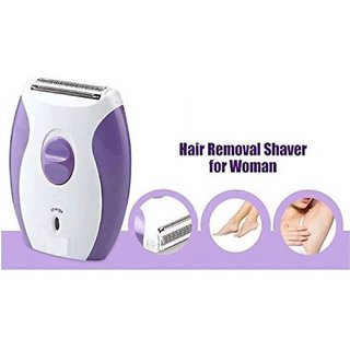 2 in 1 Epilator for Women - Shaver and Trimmer in One - Full Body Beauty Styler - Kemei KM 280R (Purple and White)