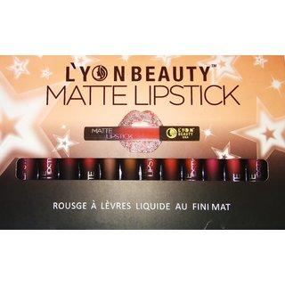 TMG Lyon Beauty Matte Liquid Lipstick (Pack of 12)