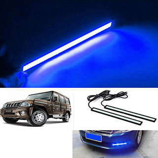 Car Waterproof Blue Cob LED Fog DRL Daytime Light 6000k For Universal Car