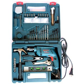 Bosch GSB 10 RE Professional Tool Kit  Blue, Pack of 100  Drill Machines
