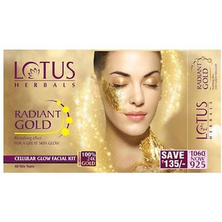 Lotus herbals radiant gold glow facial kit