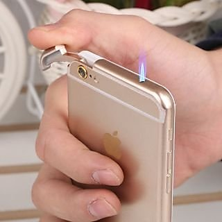 Iphone 6 Mobile Golden Look Premium Quality Stylish Metal Refillable Cigarette Lighter
