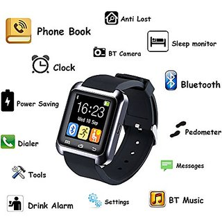 Smart Bluetooth Wrist Watch Phone BLK for IOS Android in Chennamukkapalle (AP)