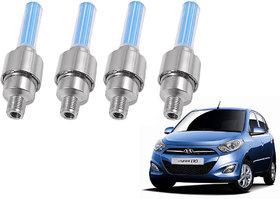 Auto Addict Car Tyre Valve Cap with Blue Motion Sensor Set of 4 Pcs For Hyundai i10