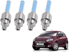 Auto Addict Car Tyre Valve Cap with Blue Motion Sensor Set of 4 Pcs For Fiat Punto