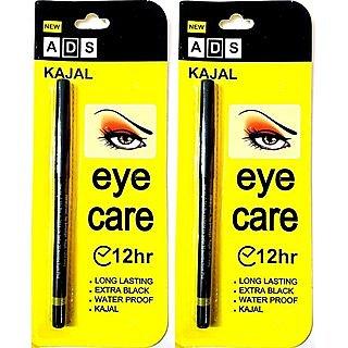 ADS 12Hr Long Stay Eye Care Soft Kajal - Pack Of 2