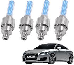 Auto Addict Car Tyre Valve Cap with Blue Motion Sensor Set of 4 Pcs For Audi TT