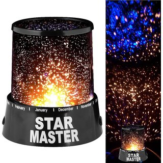 S4D Star Master Projector With Usb Wire Turn Any Room Into A Starry Sky(13.4 Cm,Black)