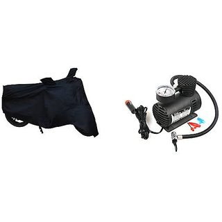 Combo for Bike Body cover with Air Compressor Pump