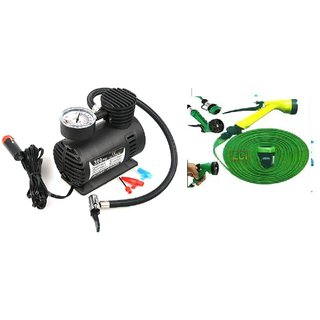 Combo Car Air Compressor Pump + Water spray Gun